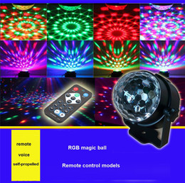 $enCountryForm.capitalKeyWord Australia - Crystal Magic Ball Led Stage Lamp Remote control RGB stage lights rotating colorful Stage Lighting Disco Laser Light Party