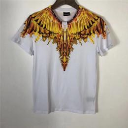 $enCountryForm.capitalKeyWord Canada - Marcelo Burlon T-shirt Men Women Golden Flame Wings T Shirts Fashion Italy Milan Top Tees Marcelo Burlon T-shirt
