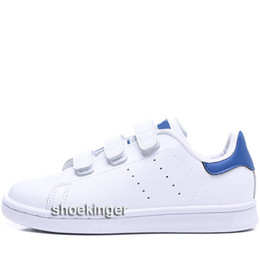 Baby Shoes Red White Australia - Size Eur22-35 Kids Children Stan Smith Hook & Loop Shoes Boys Girls Baby Samba Gazelle OG Multi Pink White Red Blue Love Casual Shoes