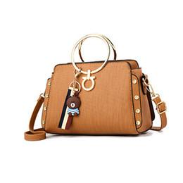 ee2f59a1c606 ladies satchels totes rivet bear strap purse party shopping handbag women  messenger shoulder crossbody bags