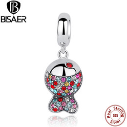 Colourful pendant neCklaCe online shopping - 925 Sterling Silver Colourful Crystal Fish Charm Pendant Fit PAN Bracelet Necklace DIY Jewelry Accessories Women Gift