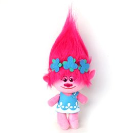 freezing figure NZ - Anime 4Pcs  Set 23Cm Trolls Cartoon Movie &Tv Figure Plush Dolls Trolls Doll Toys Fashion Doll Children Gift In -Stock Items