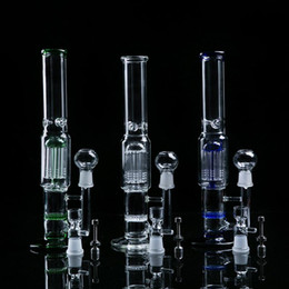 Arm Percolator Bong Canada - Smoking Accessories Hookahs Glass bongs two function 9 Arm percolator and honey comb 19mm glass bong glass water pipe clear,blue green White