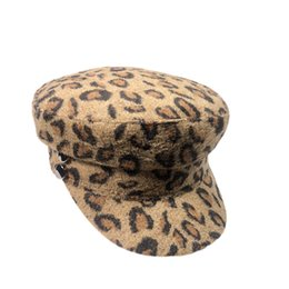 a8e04d85953 leopard flat cap 2018 - 2018 Fashion Style Women Casual Autumn Winter  Beanie Hat Wool Leopard