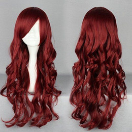 red white cosplay wigs NZ - parrucca perruque DYZ+++714 Women Anime Long Curly red Hair Harajuku Lolita Cosplay Fancy Party Wigs