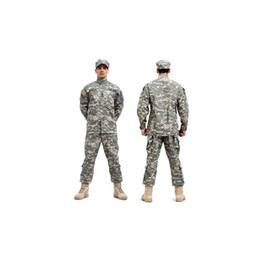 Discount orange camouflage clothing - Tactical Army Cargo Pants And Shirt Camouflage Waterproof BDU Uniform Combat US Men Clothing Sets Whosale