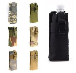 Chinese  New Outdoor Sports Hunting Military Tactical Airsoft Paintball Molle Phone Radio Talkie Water Bottle Canteen Bag Pouch manufacturers