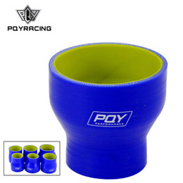 "Silicone Hose 51mm Australia - PQY - 2""-3"" 51mm-76mm Silicone Hose Straight Reducer Joiner Coupling Blue&yellow PQY-SH02030-QY"