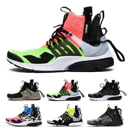 Fashionable Flat shoes laces online shopping - ACRONYM x Lab Air Presto Mid Running Shoes For Men Fashionable White Black Hot Lava Presto Shoes Sport Trainers Eur