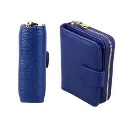 f1baec901cea Cowhide Women Wallet Bank card Purses Coin Purse Female Small Portomonee  Bifold Rfid Wallet Lady Purse Girls Money Bag