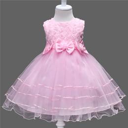 $enCountryForm.capitalKeyWord NZ - Summer Lace Flower Girls Dress Princess Wedding Children Clothing Girl Kids Clothes Baby Girl Birthday Dress Frocks Ceremonies
