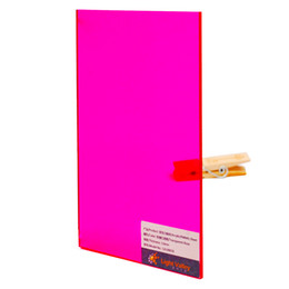 rose acrylic UK - Acrylic (PMMA) Tinted Color sheets, 3.0mm Thickness - Fluorescent Rose (991)