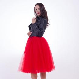 358c6688c176 New Puffty Women Chiffon Tulle Skirt faldas High waist Midi Knee Length  Tulle Skirt plus size Grunge Jupe Female Tutu Skirts