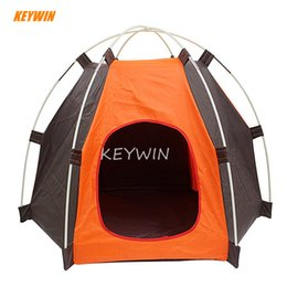 Discount outdoor cat tents - New Style Outdoor Portable Pet Tent Dogs Cats House High Quality Hexagon Style Large Room Household Folding Puppy Tents
