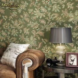 American flowered wallpaper online shopping american flowered beibehang wall paper puna american nonwoven bedroom living room tv background retro green flower wallpaper rural countryside mightylinksfo