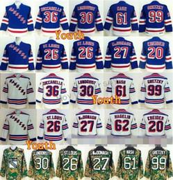Youth New York Rangers Jerseys Hockey 36 Mats Zuccarello 30 Henrik Lundqvist  27 Ryan McDonagh 61 Rick Nash 99 Wayne Gretzky 26 Martin 49e842975