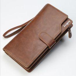 Wallet Zip NZ - Baellerry Fashion Men's Leather Wallet Men Retro Clutch Male Long Vintage Zip Coin Pocket Wallet Man Clutch Bags High Capacity