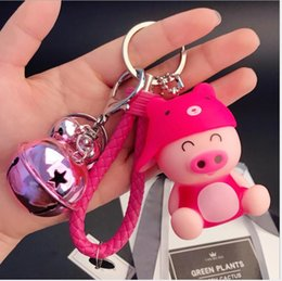 Discount male silicone balls toys - Cartoon toy male and female Cute Panda bag woven key chain ring creative birthday gift