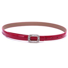 Chinese  Wholesale retail ladies leather waist belt set auger patent leather belt women's fashionable joker cowhide leather belt manufacturers