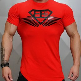 a69a93040de 2018 Year New Men s Fitness Body Engineers Brand Summer Strong And Handsome Man  Irregular Round Collar T-shirt With Short Sleeve