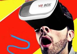 Venta al por mayor de VR Box 2.0 + Gamepad Realidad virtual Gafas 3D Casco VR BOX Auricular para teléfono inteligente 3.5 pulgadas ~ 6 pulgadas con paquete al por menor