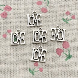 $enCountryForm.capitalKeyWord Australia - 100pcs Charms love 15*13mm Tibetan Silver Vintage Pendants For Jewelry Making DIY Bracelet Necklace