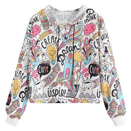 7ef2f6e8d4d4 Cartoon Print Hoodies Sweatshirts Women Long Sleeve Drawstring Hoodie  Pullover Sweatshirt Autumn Winter Hooded Harajuku Clothes