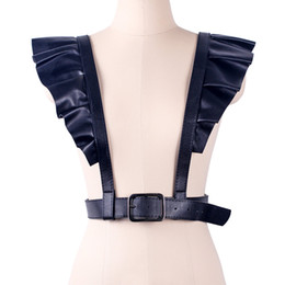 Sexy Harnesses UK - Sexy Style Harajuku Punk Shoulder Belt Faux Leather Body Bondage Sculpting Women Harness Waist Belts Straps Suspenders For lady