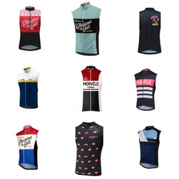 vest team cycling NZ - Morvelo team Cycling Sleeveless jersey vest 2018 Summer Sleeveless Racing Bicycle Clothing Breathable bike clothing