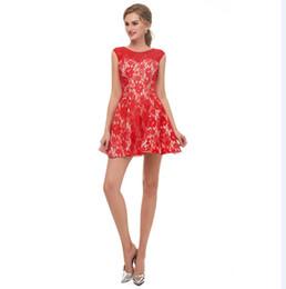 c648ed04a5 Rojo Elegante Homecoming Vestidos Cortos Online