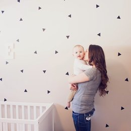 Wall Stickers For Kids Australia - wall 36pcs multi color triangles graphic pattern wall sticker for kids room decor,M2 sticker for kids room