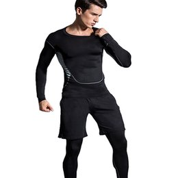 8060231bd8 workout 3pcs Gym Suits mens Sports Suit Running clothes Fitness sportswear  Compression suit Running Tracksuits elastic wear