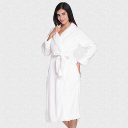 New Style Coral Fleece Robe Winter Ladies Kimono Bathrobe Long Sleeve  Sleepwear Sexy Dressing Gown Negligee Thick Nightgown bafc523fd