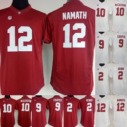 dec0655b7 Womens Alabama Crimson Tide College Jerseys  12 NAMAT 10 MCCARRON 2 HENRY 9  COOPER Stitched NCAA College Football Jerseys White Red