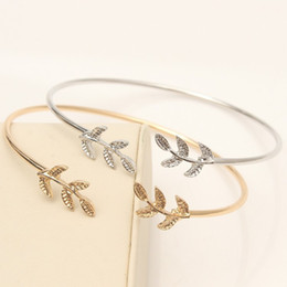 European and American foreign trade explosions leaf bracelet opening leaf bracelet factory wholesale on Sale