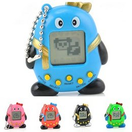 Wholesale Mini Lovely Multicolor Virtual Pets In One Penguin Electronic Digital Pet Machine Game Gift Toy Random Color
