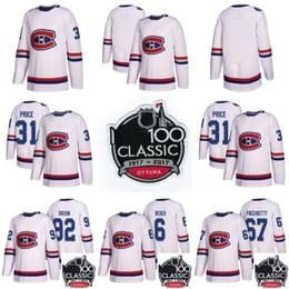 0ef977accfd 2018 Montreal Canadiens 100th Classic Jersey 11 Brendan Gallagher 6 Shea  Weber 31 Carey Price 27 Alex Galchenyuk Hockey Jerseys Cheap