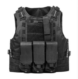 Single clip color online shopping - Unloading Vest Tactical Molle Air Soft Protection Plates Colette Soldier Combat Vest Army Military Three Clip Vests
