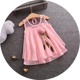$enCountryForm.capitalKeyWord Canada - 2018 Newest Baby Girl Dress Chiffon Vest Dresses Brand Summer Princess Rose Dress Kids Clothes 1-4 Years
