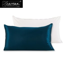 Chinese  Lilysilk 100 %Pure Mulberry Silk Pillowcase With Cotton Terse Pillow Cover For Hair With Hidden Zipper Hypoallergenic manufacturers