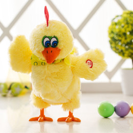ElEctronic bird online shopping - 2017 New Push Electronic Hen Toy Chicken Lays Eggs with Music Flash Light Toys for Children Baby Dolls for Girls