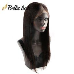 human hair glueless silk top 2019 - Silk Top Full Lace Wigs Indian Human Hair 8~24inch Silky Straight Natural Color #1B High Quality Silk Base 4*4 Hair Wigs