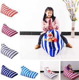 Doll chairs online shopping - Kids Stuffed Animal Plush Toy Bean Storage Bag Soft Pouch Stripe Chair diamond shape bean bag Stuffed Dolls bag Plush Toys Tote T1I872