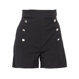 $enCountryForm.capitalKeyWord UK - 2017 NEW Stylish Summer Style Women Hot Pants 4 Colors S-XXL High Waist Solid double-breasted Short Pants Causal Clothing