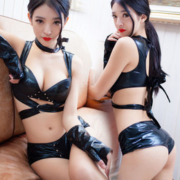 79b58d49dc Hot Sexy Costumes Women PU Leather Game Uniform Nightclub Clothing Lingerie  Sexy Lady Hot Erotic Sleepwear