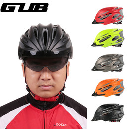 mtb helmet blue green Canada - GUB K80 PLUS Bicycle Helmet Integrally-molded MTB Road racing Bike Safe Cap Cycling Helmet With Magnet Adsorption Goggles