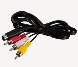 Sega cable online shopping - 9 pin to RCA Audio Video AV Cable m for Sega Genesis or Mega Drive A V RCA Connection Cord DHL FEDEX EMS
