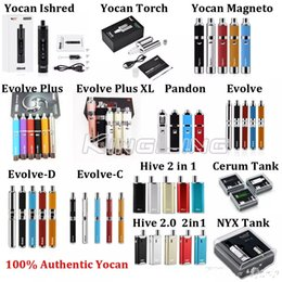 Fixed carbon Film resistor online shopping - Authentic Yocan Evolve C Evolve D Evolve Plus Hive Starter Kit Wax Dry Herb Pen Vaporizer With mAh Battery Oil Wax Atomizer