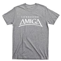 China Amiga T Shirt Commodore 64 Workbench Console Keyboard Disk Drive Cartridge Tee Stranger Things Print T-Shirts Original suppliers