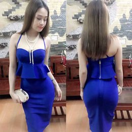$enCountryForm.capitalKeyWord Canada - HOT new style woman Split harness small dress skirt dress evening, bandage skirt, banquet dress, wedding dress